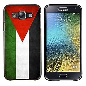 TECHCASE---Cubierta de la caja de protección para la piel dura ** Samsung Galaxy E5 E500 ** --Nacional bandera de la nación País Jordania
