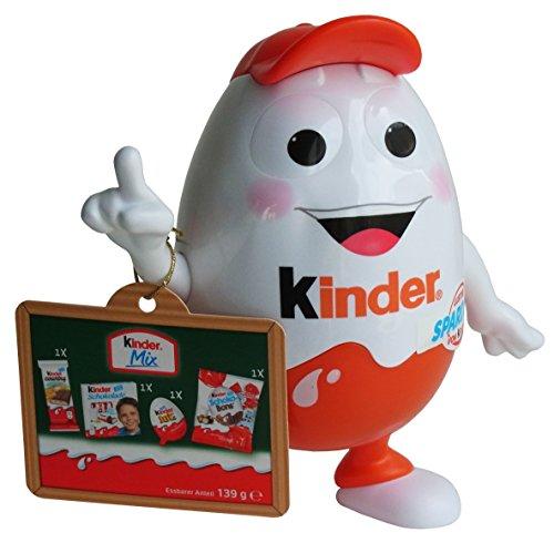Ferrero Kinderino Eiermann Spardose mit Kinder Spezialitäten, 1er Pack (1 x 139g)