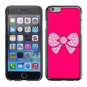 "For Apple Iphone 6 Plus / 6S Plus ( 5.5 ) , S-type Modelo de mariposa rosa"" - Arte & diseño plástico duro Fundas Cover Cubre Hard Case Cover"