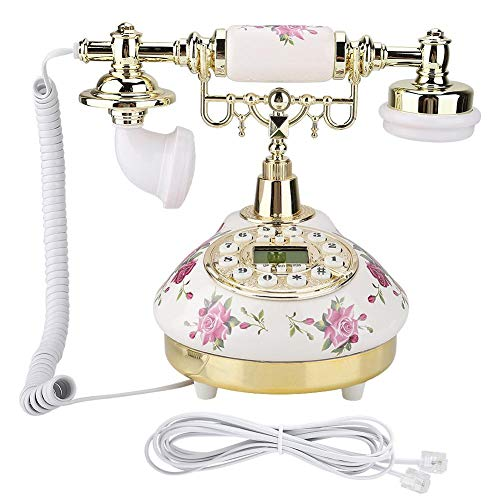 Yoidesu Vintage Antique Phone,European Antique Landline Telephone,Corded Retro Phone for Home Office Use from Yoidesu
