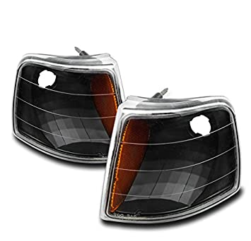 ZMAUTOPARTS Ford Ranger Corner Signal Lights Lamps Black