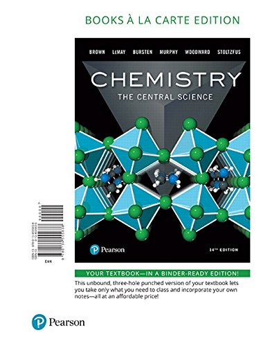 Chemistry: The Central Science, Books a la Carte Edition