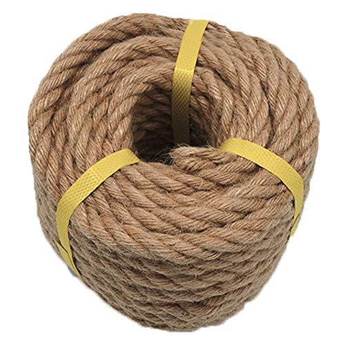 (Twisted Jute Rope Hemp Rope (1/2 in x 50 ft) for DIY Crafts Gardening Decorating Brown Natural Rope )