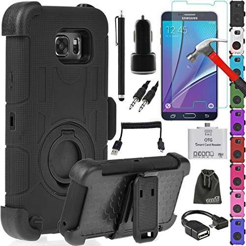 10 in 1 Starter Kit for Samsung Galaxy Note5,Hybrid Rubber