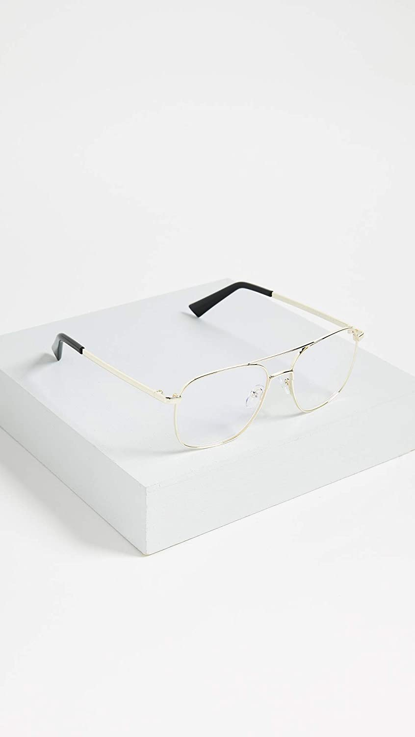 65261f26ca9b Amazon.com: The Book Club Women's Bored of the Flings Reading Glasses,  Gold/Clear, One Size: Clothing