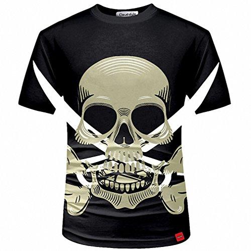 3D Men T shirt Fashion Men's Skull 3D Printed T shirt Plus Size S-5XL Funny Print Men Clothes Camiseta Masculino 9 Asian Size (Frida Kahlo Costumes)