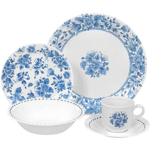 Amazon.com | Corelle Livingware Vintage Blue 20-Piece Set, Service ...
