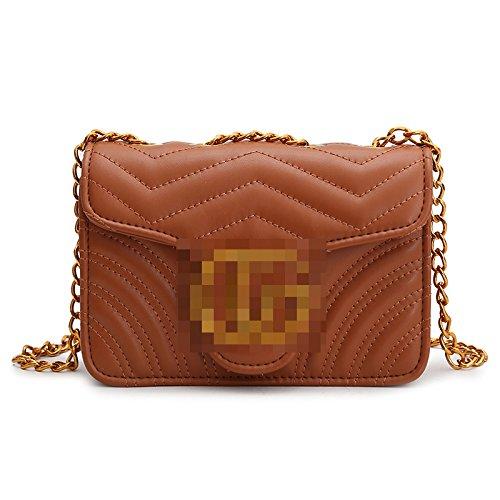 single bag shoulder Brown GMYAN chain shoulder Fashion diamond C7pxWtw1q