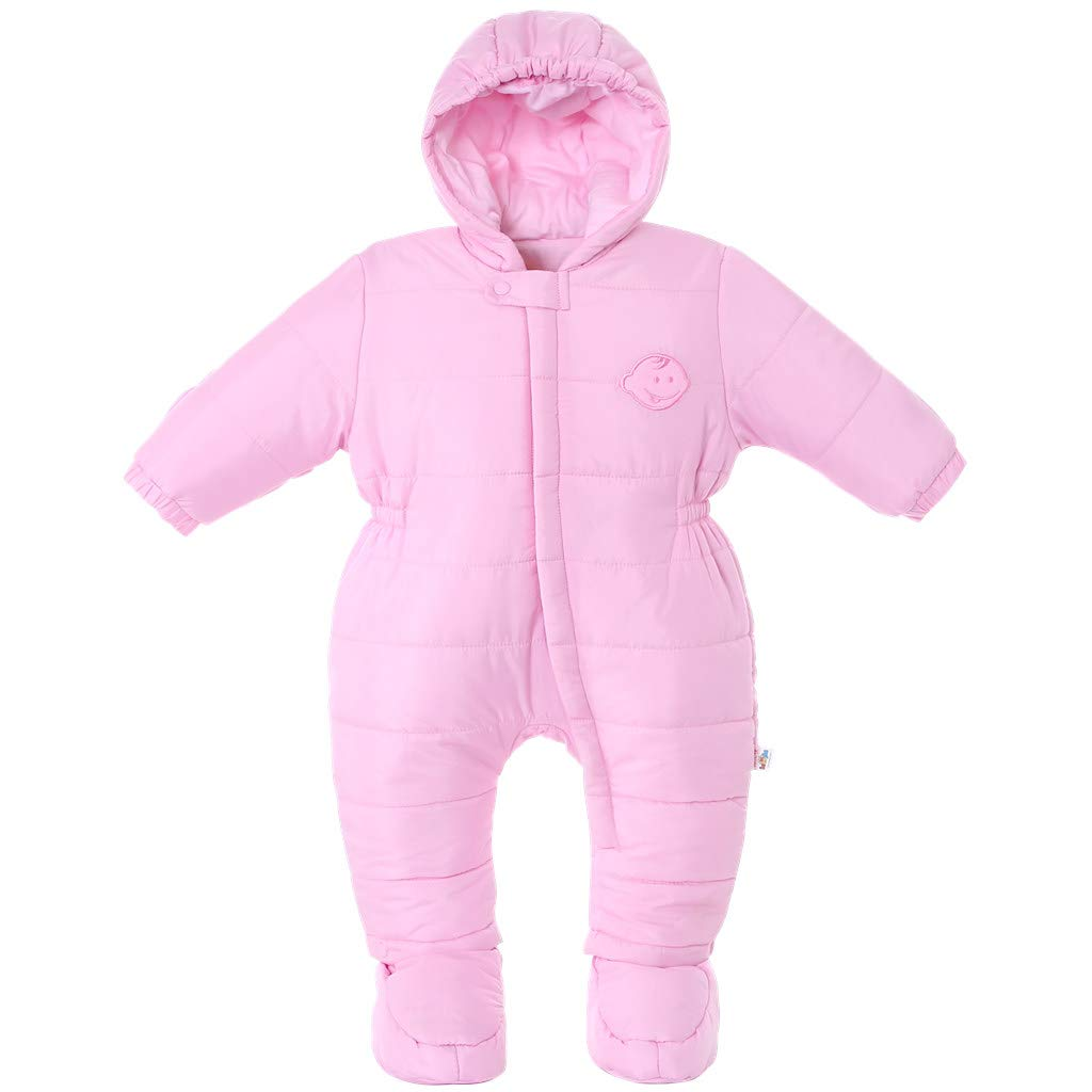e83f2fc8c Amazon.com: Jiamy Baby Snowsuit with Booties Winter Hooded Romper Jumpsuit  Cotton Outfits Set Grey 9-12 Months: Baby