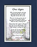 Once Again, #106, Touching Bereavement Memorial Poem, For The Loss Of A husband Or Wife.