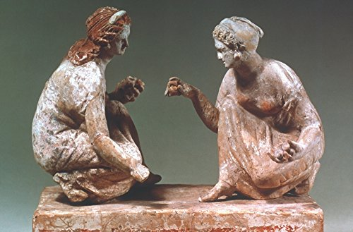 (Greek Terracotta 300 BC Nwomen Playing Knucklebones Terracotta South Italian Greek About 300 Bc Height 8 Inches Poster Print by (18 x 24))