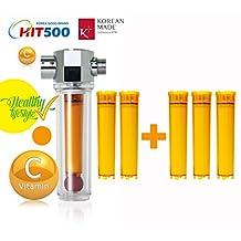 UBS INC Luxury Vita-Fresh Shower Filter (Vitamin C Inline ShowerFilter) with 5 Vitamin C Filter Cartridge