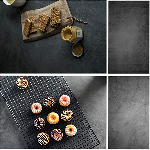 Evanto 22X35 Inch 2-in-1 Food Photography Backdrop for Foodies and Bloggers, Cake Shops, Restaurants, Dessert Display, Bakeries Poster or Menu Shooting (Cement Wall)