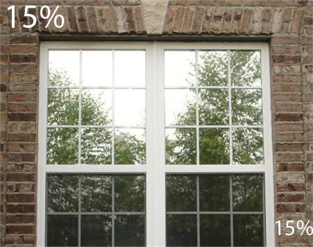 One Way Mirror Film with Night Time Vision 15% Privacy, Solar Heat Rejecting, UV Protection, Glare Reduction, Window Film (36
