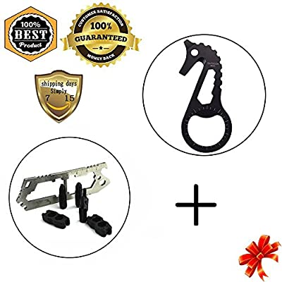 Meanhoo Multi Flathead Phillips Screwdriver Set Pocket Tool Keychain Keychain Sets & Stainless Steel Bottle Metal Opener for Household Picnic Tactical Pocket Key Ring Tools