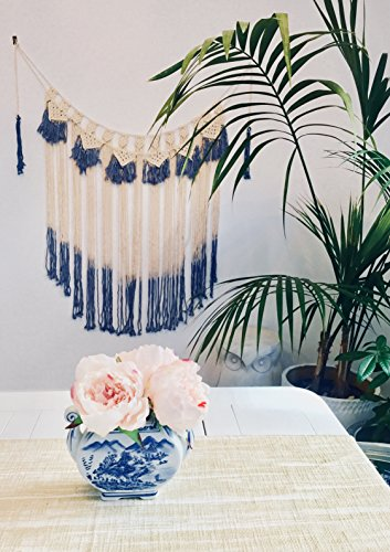 Boho Decor Macrame Tassel Wall Hanging Tapestry | Couch Wall Bedroom Wall Décor | Macrame Curtain for Dorm Wall (47