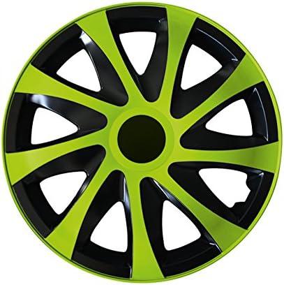 Schwarz//Gr/ün 15 Zoll Radkappen Radzierblenden Draco Bicolor universal Eight Tec Handelsagentur Farbe /& Gr/ö/ße w/ählbar passend f/ür Fast alle Fahrzeugtypen