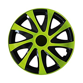 Radzierblenden AGAT Gr/ün passend f/ür fast alle Fahrzeugtypen 13 Zoll Radkappen Gr/ö/ße w/ählbar universal
