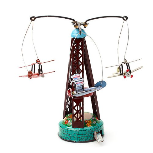 264 rotary wing aircraft Clockwork carousel toy plane Wind Up Aolly Airplanes Hwydo PYXEL STUDIO