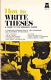 How to Write Theses, Harry Teitelbaum, 0671187260