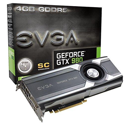 EVGA GeForce GTX 980 4GB SC GAMING, Silent Cooling Graphics Card 04G-P4-1982-KR