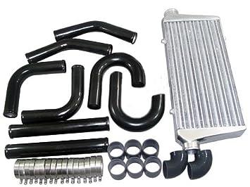 Universal FMIC Turbo Intercooler tuberías de 3 pulgadas + Kit Eclipse Mustang Supra: Amazon.es: Coche y moto
