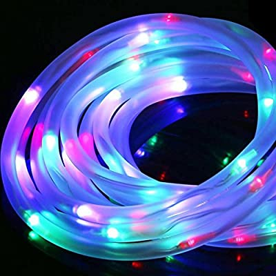 100LED 30FT Colorful Solar Rope Lights Waterproof Outdoor Rope Lights, Portable, LED String Light with Light Sensor, Ideal for Wedding, Party, Decorations, Gardens, Lawn, Patio Sogrand Solar Light