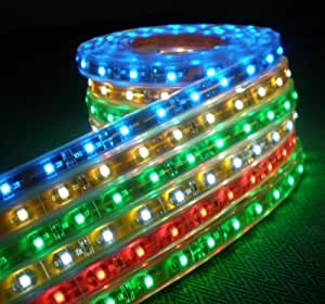 12 Volt RGB Color Changing LED Flexible Lighting Strip with Self-Adhensive 16.4 Ft (5m/reel),5050RGB