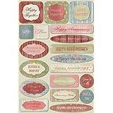 Karen Foster Design Acid and Lignin Free Scrapbooking Sticker Sheet, Happy Anniversary
