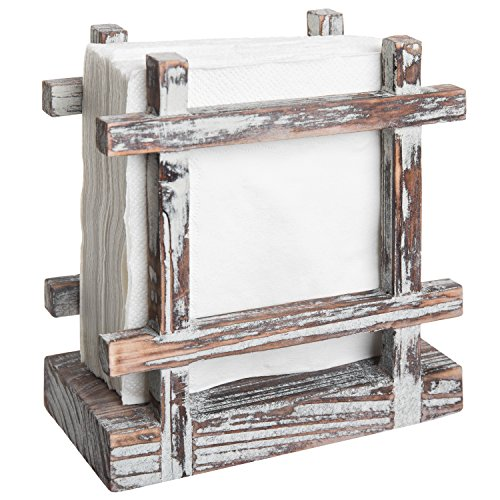 Rustic Barnwood Upright Napkin Holder, Table Top