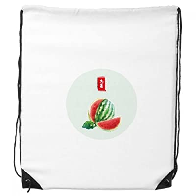 Circlar Great Heat Twenty Four Solar Term Drawstring Backpack Shopping Sports Bags Gift