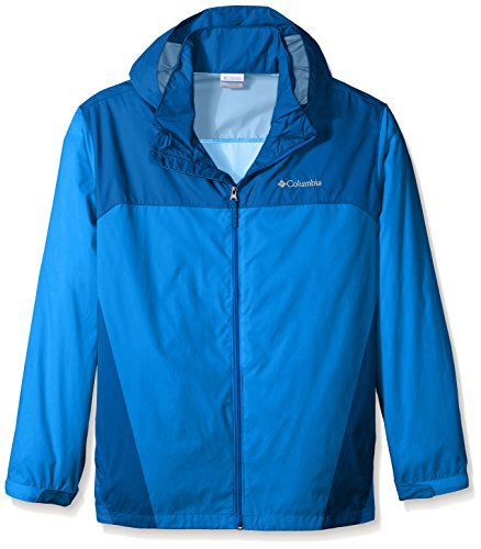 Columbia Men's Big & Tall Glennaker Lake Packable Rain Jacket,Super Blue/Marine Blue,2X - Columbia Jacket Blue Men