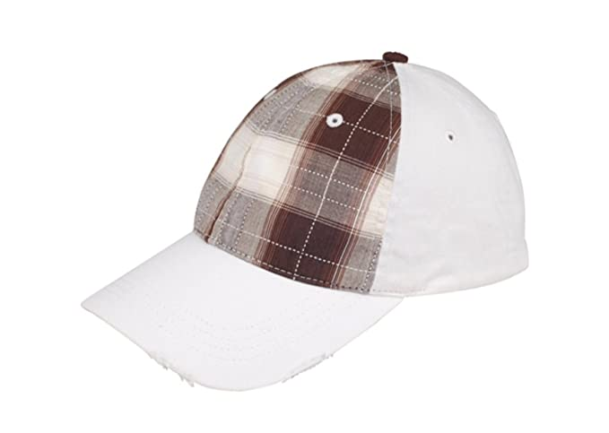 3c71490c0b6 G Men s Low Profile Plaid Fitted Flex Cap (Brown) at Amazon Men s ...