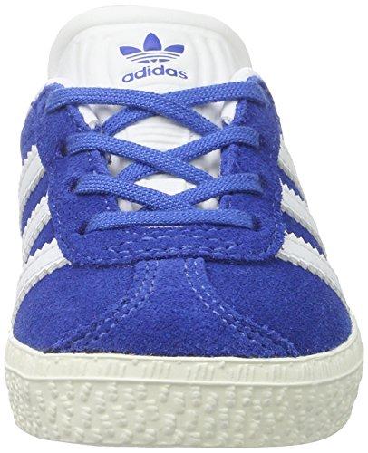 adidas Gazelle, Zapatillas Unisex Niños Azul (Blue/ftwr White/gold Metallic)