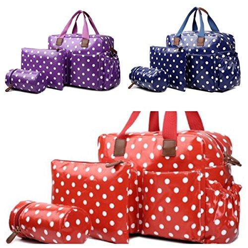 Lujo Miss Lulu 4 piezas de productos encerado cambiador Hospital/Maternidad Bolsa para Mum & Baby () - Entrega Gratuita Next Day * impermeable de lunares, ...