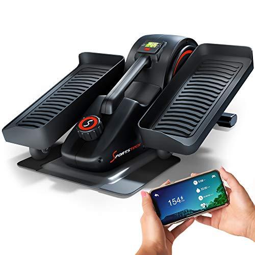 Sportstech Mini hometrainer met app, stepper voor beweging op kantoor en thuis, slimme crosstrainer voor werkplek en…
