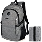 Travel Laptop Backpack for Men & Women, Fits 15.6 Inch Laptop with Felt Pouch Bag by Eastern Time