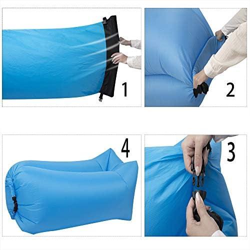 Amazon.com: Hybag Tumbona inflable – Perfecta silla de aire ...