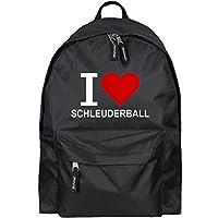 Rucksack Classic I Love Schleuderball schwarz