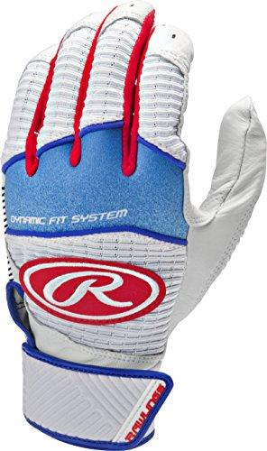 (Rawlings Workhorse 950 Series Adult Batting Gloves,Royal ,Large)