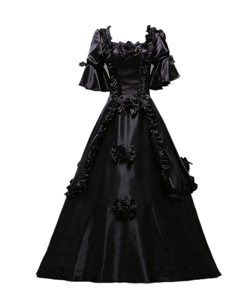 Amazon.com: Ladies Medieval Renaissance Victorian Dresses Masquerade ...