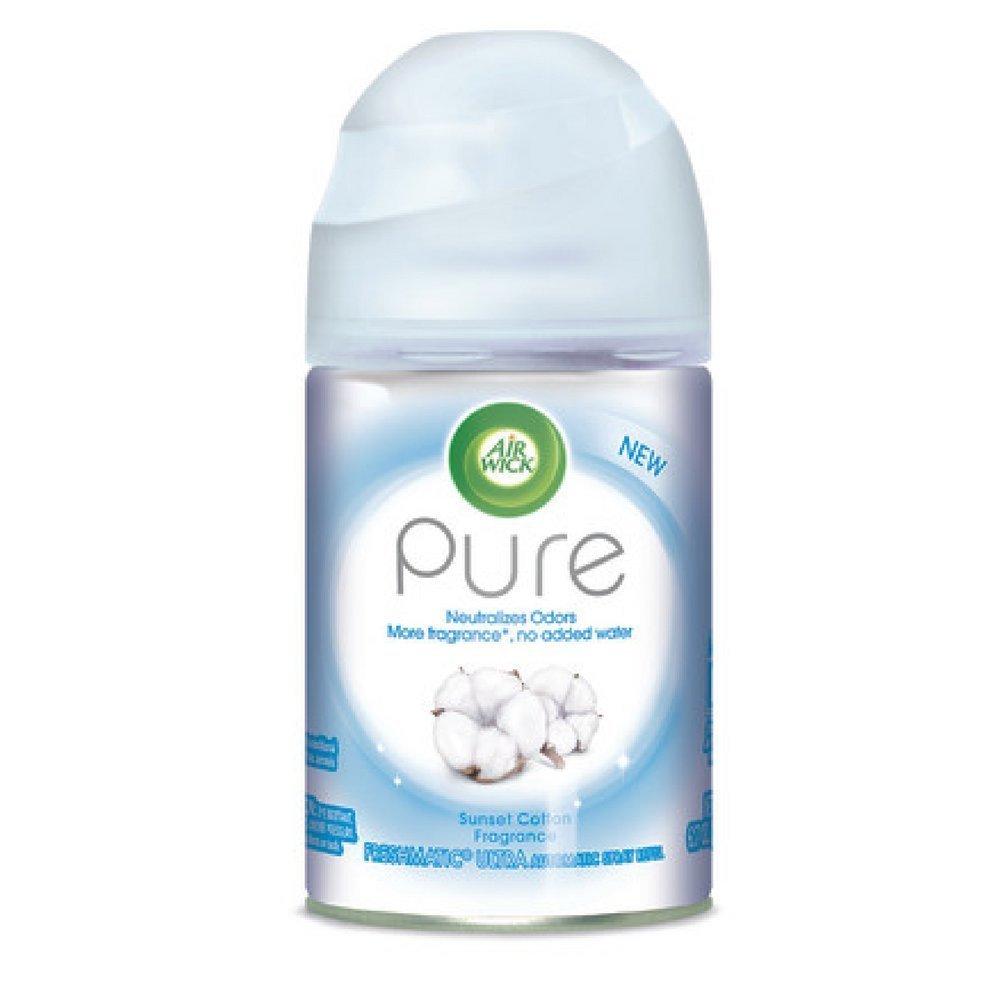 Air Wick Pure Freshmatic Ultra自動スプレーリフィル – サンセットコットンFragrance – Net Wt。175 g – Pack of 2リフィル、Refillあたり1缶 B06X1CS79Q