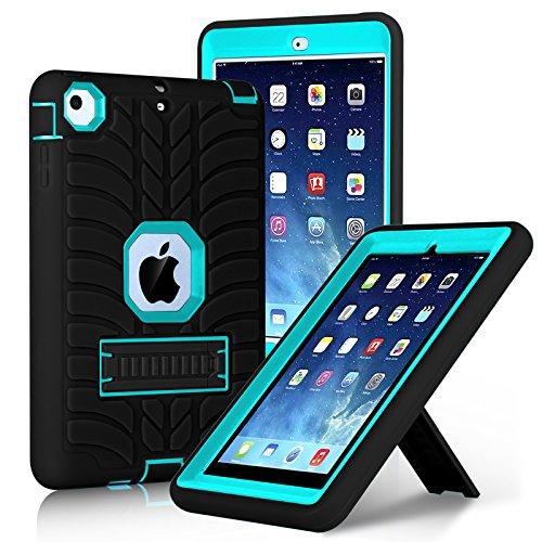 Shockproof Heavy Duty Armor Case for Apple iPad Air 2 (Black) - 4