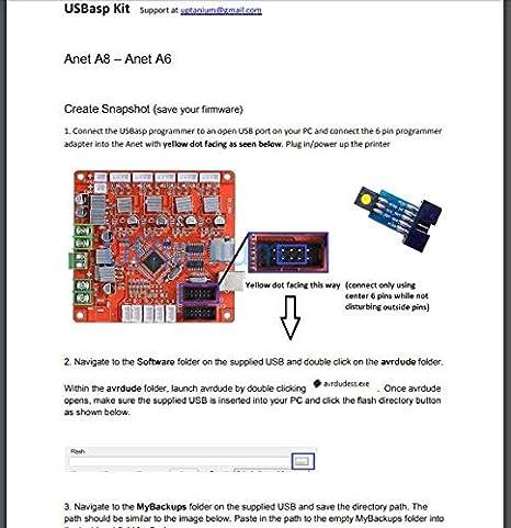 Kit de cargador de impresora 3D para grabadora de firmware ...