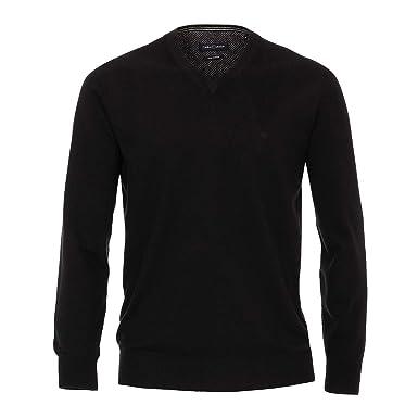 Casa Moda V Ausschnitt Strick Pullover schwarz XXL