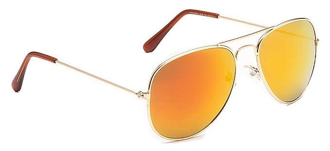 Mens Ladies Metal Designer Vintage Retro Pilot Sunglasses Chrome Gun Mirror