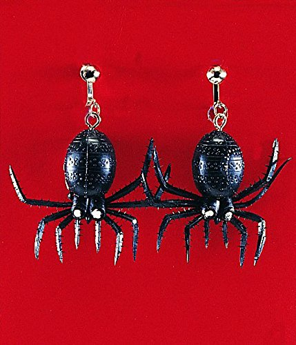 Rubber Spider Earrings Halloween Costume Accessory Favors -