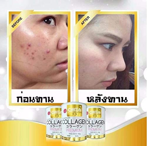 CHITA Collagen 180,000 mg. 100% Collagen Pure Whitening Skin Smooth Anti-aging,skin lightening,Whitening Skin healthy hair,Extracted from deep sea fish Imported from Japan, Net.125 G