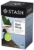 Stash Tea Earl Grey Black Tea, 20 Count Tea Bags in Foil (Pack of 6) Full Caffeine Tea, Black Tea with Bergamot, Enjoy Hot or Iced