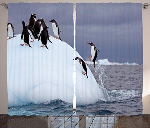 ambesonne-sea-animals-decor-collection-gentoo-penguin-on-iceberg-freeze-wilderness-antarctic-landsca